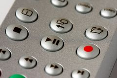 Play Stop Record buttons. On a remote controler Royalty Free Stock Photos