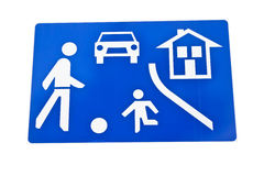 Play street traffic sign Royalty Free Stock Photography