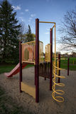 Play Structure at Public Park. A childrens play structure or jungle gym at a public park or playground Stock Image