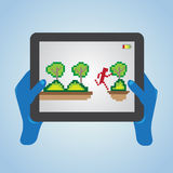 Play tablet Stock Images