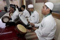 Play tambourine Royalty Free Stock Photo