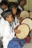 Play tambourine Royalty Free Stock Photos