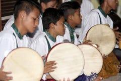 Play tambourine Stock Photography