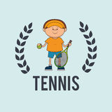 Play tennis design Royalty Free Stock Images