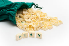 Play Text Royalty Free Stock Image