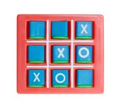 Play tic tac toe isolated on white royalty free stock image