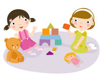 Play time. Children play time-illustration art Stock Photography