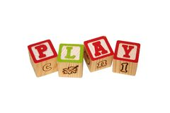 Play Time Blocks Isolated on White Royalty Free Stock Photos