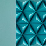 Play time. Abstract blue paper poly  made from  tetrahedron background. Usefull for business cards and web Royalty Free Stock Images