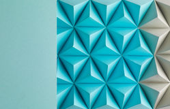 Play time. Abstract blue to grey paper poly  made from  tetrahedron background. Usefull for business cards and web Royalty Free Stock Photos