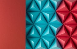 Play time. Abstract blue to red paper poly  made from  tetrahedron background. Usefull for business cards and web Royalty Free Stock Images