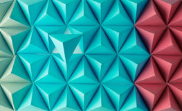 Play time. Abstract blue to red paper poly  made from  tetrahedron background. Usefull for business cards and web Royalty Free Stock Photography