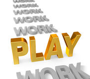 Play Time is Golden Royalty Free Stock Photos