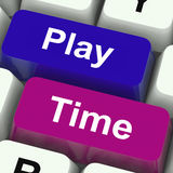 Play Time Keys Show Playing And Entertainment Royalty Free Stock Photo