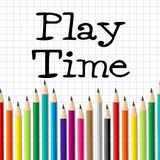 Play Time Pencils Indicates Child Childhood And Toddlers. Play Time Pencils Showing Youths Youngster And Stationery Royalty Free Stock Images
