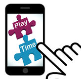Play Time Puzzle Displays Fun And Leisure For Children Stock Photography
