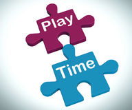 Play Time Puzzle Means Fun And Leisure For Children Royalty Free Stock Photography