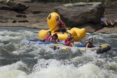 Play Time on the River Rapids. `Play Time on the River Rapids`, is a photo taken at the Whitewater Express Course on the Chattahoochee River located in Muscogee stock photography