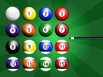 Play to billiards Royalty Free Stock Photo