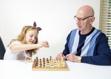 Play to chess Stock Photography