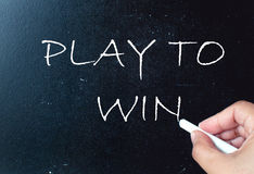 Play to win royalty free stock photography