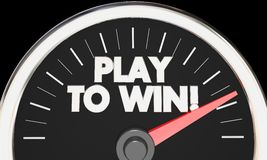 Play to Win Speedometer Competition Fast Performance Success 3d Stock Photography