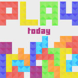 Play today Tetris concept Royalty Free Stock Images