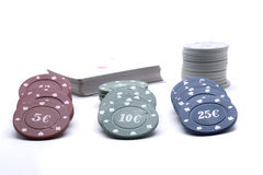 Play tokens Stock Photography