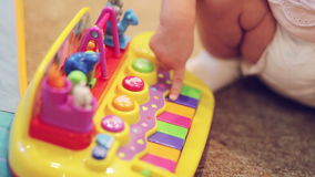 Play Toy piano stock video