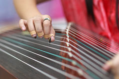 Play traditional Chinese music instrument Royalty Free Stock Photos