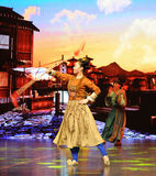 """Play tricks-Large scale scenarios show"""" The road legend"""". The drama about a Han Princess and king of Tibet Song Xan Gan Bbu and the story, across Shaanxi Stock Image"""