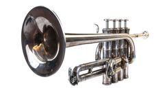 Play the trumpet Stock Image
