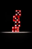 Play with us!. A tower of four dices Stock Images