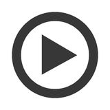 Play video line icon design. Play video icon inwhite and gray colors, vector illustration Royalty Free Stock Images
