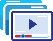 Play Video Vector Illustration clip-art Icon. File eps Stock Images