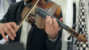 Play The Violin and Cello stock video