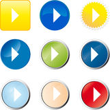 Play web button Stock Photo