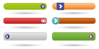 Play web buttons Stock Images