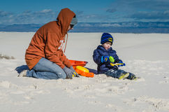 Play - White Sands National Monument - New Mexico stock photo