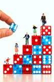 Play and win. Taking chances getting higher up in life Royalty Free Stock Photos