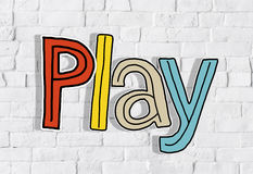 Play Word Concepts Isolated on Background Royalty Free Stock Photo