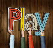 Play Word Concepts Isolated on Background Royalty Free Stock Photos