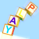 Play Word Show Entertainment Enjoyment And Free Time. Play Word Showing Entertainment Enjoyment And Free Time Stock Photo