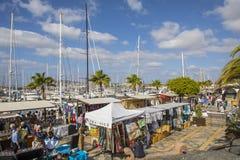 Playa在小游艇船坞Rubicon的布朗卡市场 库存照片