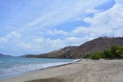 Playa埃尔莫萨海滩在哥斯达黎加 免版税库存图片