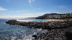 Playa布朗卡海滩 库存图片