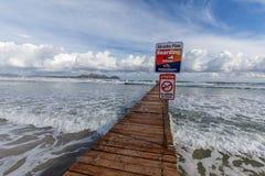 Playa的de穆罗角木板走道 免版税库存图片