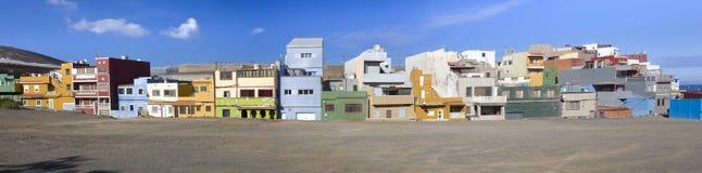 Playa的del Agujero议院 库存照片
