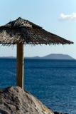 playa Ισπανία BLANCA Lanzarote παραλιών sunbeds Στοκ Εικόνα