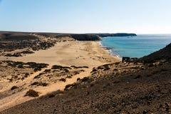 playa Ισπανία papagayo BLANCA Lanzarote παραλιών Στοκ Φωτογραφίες